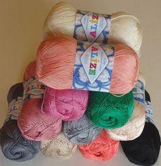 Alize Miss,a silky soft 100% mercerized knitting & crochet yarn from The Knitting Wool Store- http://www.the-knitting-wool-store.com/alize-miss-yarn.html