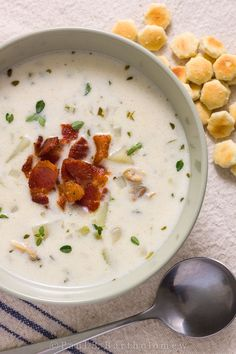 New England Clam Chowder (no tomatoes here!) - trying making this on a cool summer night paired with a Chardonnay.