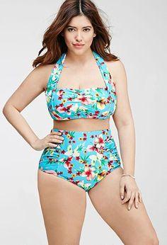 d8b3a6df7f Tropical Print Halter Bikini Top