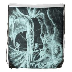 ice cave drawstring backpack