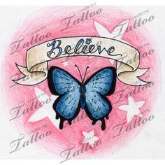Marketplace Tattoo ButterflyBanner01 #878 | CreateMyTattoo.com