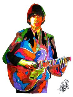 George Harrison of The Beatles POSTER from Original Dwg by thesent, $14.99