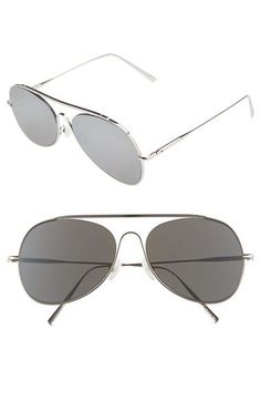 3b7f7a4557527 ACNE Studios  Large Spitfire  57mm Aviator Sunglasses available at   Nordstrom Acne Studios