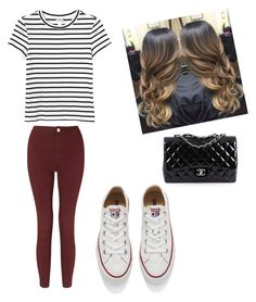"""movie date"" by madison-kohut ❤ liked on Polyvore featuring Monki, Miss Selfridge, Converse and Chanel"