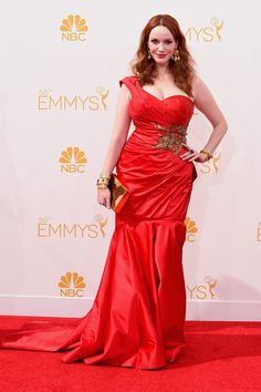 Christina Hendricks in Marchesa at the Emmy Awards