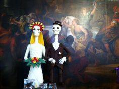 Sweet bones by Shock-O-Latier Dominique Persoone in his store in Antwerp (Belgium)