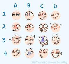 Drawing Tips the toppest of keks - Drawing Reference Poses, Drawing Tips, Drawing Ideas, Sketch Drawing, Expression Challenge, Facial Expressions Drawing, Anime Faces Expressions, Drawing Meme, Expression Sheet