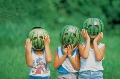 Watermelon smiling face