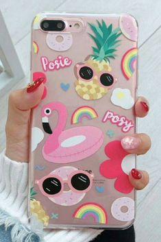 Flamingo iPhone 6, iPhone 6 Plus, iPhone 7, iPhone 7 Plus, iPhone 8, iPhone 8 Plus, iPhone X protective  Case For cute girl