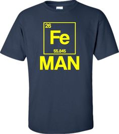 XX-Large Navy Blue Adult Iron Periodic Table Man Funny Ch...