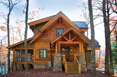 Off the Grid and Outta Sight - A couple builds a secret (& green) hideaway in the mountains of North Carolina - Cabin Life Magazine - This... just a much smaller version!