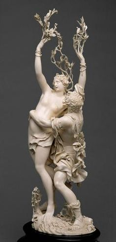❤ - Apollo and Daphne | Jakob Auer | to 1688/90,Ivory