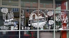 "Habillage Vitrines ""Le Bar à Linge"" #windows #agence100"