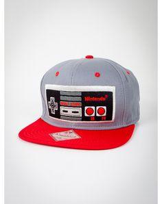 383181d36d6 Nintendo Controller Snapback Hat Caps Game
