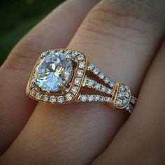 35 Best Rose Gold Engagement Rings Images On Pinterest Rose Gold