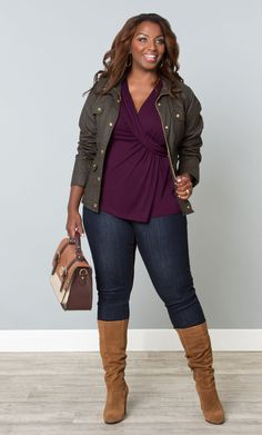 Layer it on this fall slim or plus size, great look