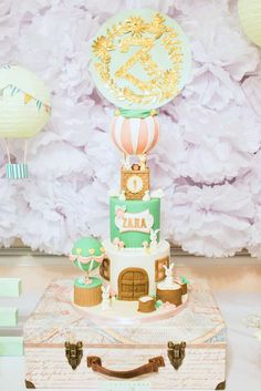 Vintage Hot Air Balloon Birthday Party Ideas   The Amazing Cake