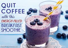 Quitting coffee is near impossible unless you find a way to boost your energy in the mornings. This healthy breakfast shake will get your day started right.