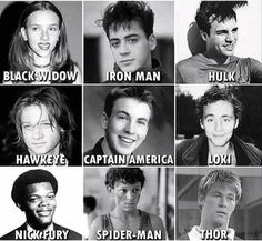 Marvel actors old pictures The good ol' times. Marvel Jokes, Marvel Avengers Movies, Funny Marvel Memes, The Avengers, Dc Memes, Avengers Memes, Marvel Actors, Young Avengers, Marvel Dc