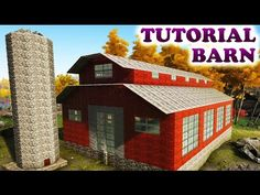 ARK AMERICAN RED BARN TUTORIAL (Building Tips and Tricks Ark Survival Evolved) - YouTube