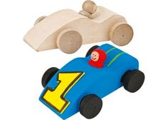 Wooden Racing Cars – Pack of 6