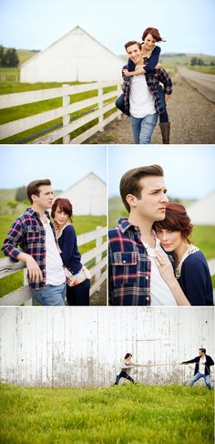 cute - at the ranch? Engagement Shots, Engagement Pictures, Engagement Photography, Couple Posing, Couple Shoot, Wedding Photo Inspiration, Engagement Inspiration, Fall Family Photos, Cute Photography