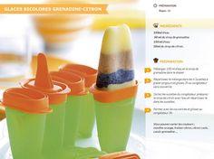 Glaces bicolore grenadine citron - Tupperware