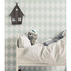 Featuring a simple and modern design the Harlequin Mint Wallpaper from Ferm Living is an ideal modern wallpaper. The simplicity of the design makes the wallpaper ideal as a feature wall or for a children's' bedroom.
