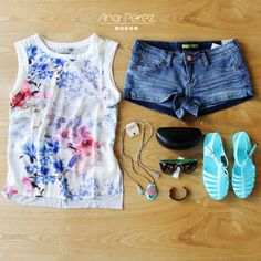 love este  outfit fantástico  ♥#fresco #trendy #summer #shop #love #flores #TFLers #tweegram