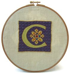 Traditional embroidery kit  Illuminated C by suislefil on Etsy
