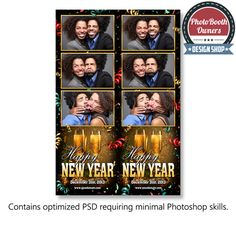 an eye popping new year theme photo booth template perfect for the most memorable and