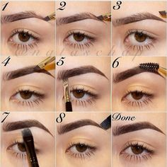 Step by Step Eyebrow Filling Tutorial.