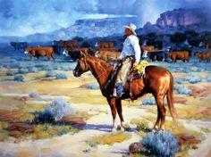 Artist Jack Sorenson Unframed Western Cowboy Horse Print Cow Country | WildlifePrints.com