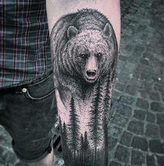 Bear Forearm Tattoos