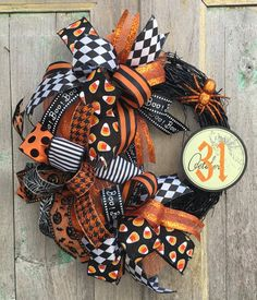 Halloween Wreath Halloween Grapevine Wreath by FollowYourWreath