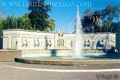Fuente del Pensador en la Alameda Zaragozano, Torreon, Coahuila, Mexico