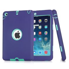 purple survivor shockproof military heavy duty case cover for #ipad mini 1 2 3 from $0.99