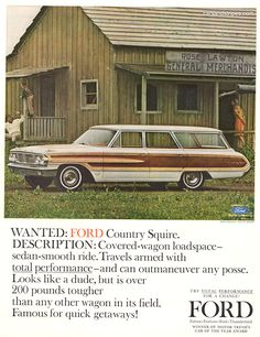 1964 Ford Country Squire Wagon - WANTED - Original Ad