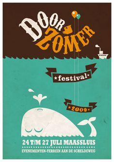 Door Zomer Festival Poster 2009