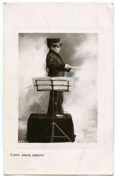 SALVATION ARMY 1907 BOY BAND CONDUCTOR RP postcard [260 | eBay