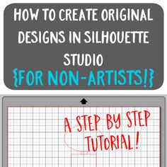A step by step tutorial on how to draw your own original designs in Silhouette Studio for Cameo or Curio users. Silhouette School, Silhouette Vinyl, Silhouette Portrait, Silhouette Machine, Silhouette Cameo Files, Silhouette Cameo Tutorials, Silhouette Projects, Silhouette Design Studio, How To Make Drawing