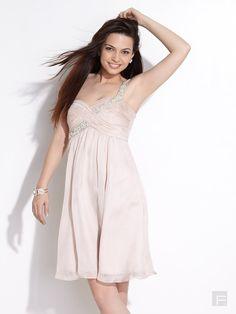 Forever New // Soft Blush One Shoulder Dress