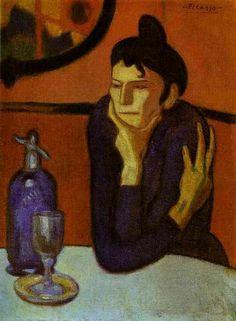 A bebedora de absinto, 1901 Pablo Picasso (Espanha, 1881-1973) Óleo sobre tela, Hermitage, São Petersburgo, Rússia