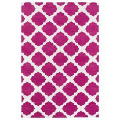 Littles Pink Geo Microfiber Rug (4'0 x 6'0)