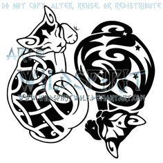 Celtic yin yang cats