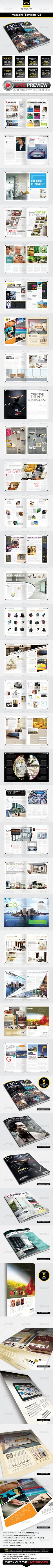 #Magazine Template - InDesign 56 Page Layout V3 - Magazines Print Templates Download here:   https://graphicriver.net/item/magazine-template-indesign-56-page-layout-v3/3296188?ref=suz_562geid