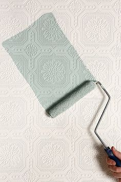 This is so cool! For above the wainscoting in the dining room. Paintable textured wallpaper! http://rstyle.me/n/ehfeynyg6