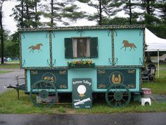 Gypsy Caravan Wagon at an SCA Event... I would like to sell sno cones out of it. ;)