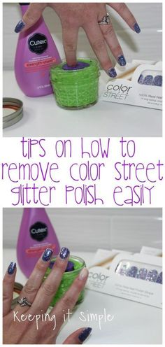 Tips on How to Remove Color STREET Nails Easily Remove Color street nails easily with nail polish. Check out this post to see what polish takes it off the easiest, including the glitter ones. Glitter Nail Polish, Nail Polish Strips, Nail Polish Colors, Color Nails, Magenta Nails, Nails Turquoise, Mauve Nails, Dry Nail Polish, Manicure Colors
