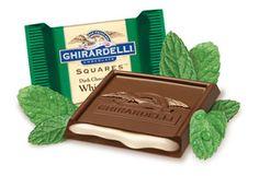 Ghirardelli Dark chocolate with mint!